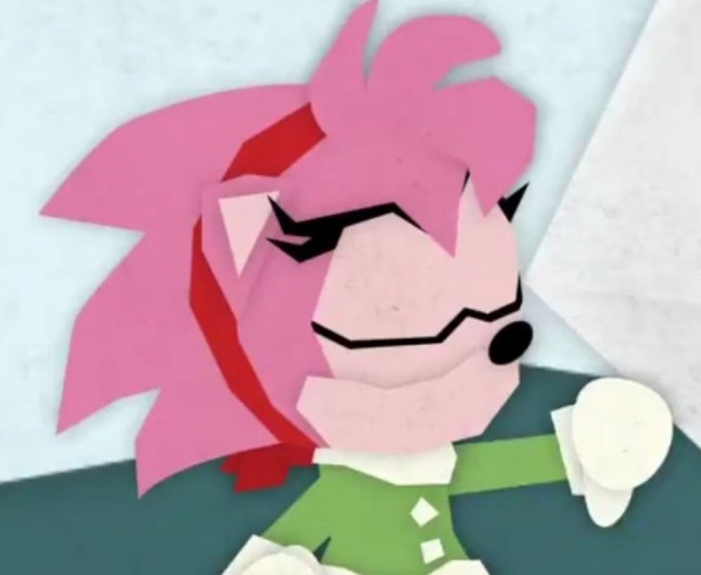 Get your Sunday off to a sweet start with this Sonic the Hedgehog papercraft animation screenshot