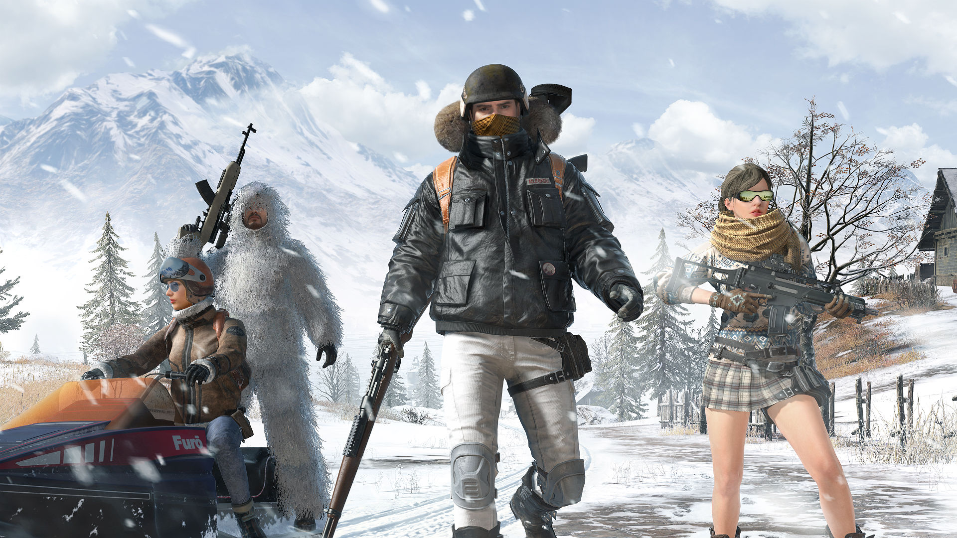 PUBG's snowy Vikendi map is now live on PS4 and Xbox One screenshot