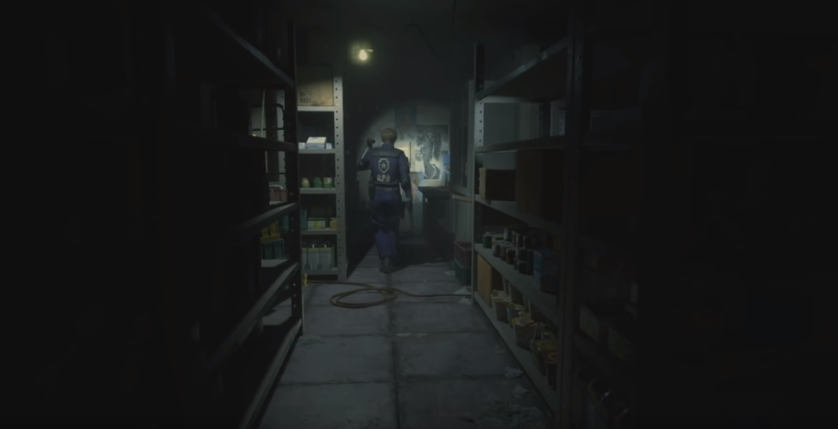 Why yes, I'd absolutely play this fixed camera Resident Evil
