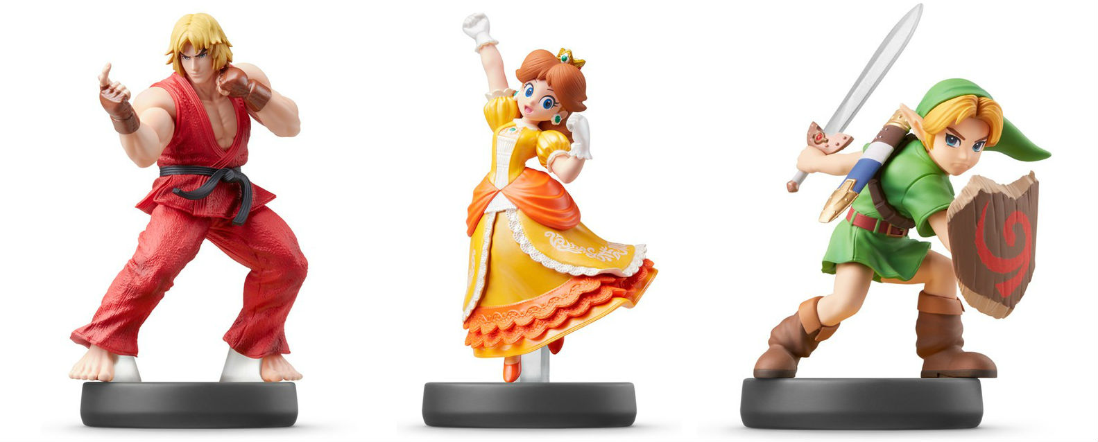 amiibo-ho! Ken, Young Link, Daisy figures all dated for April screenshot