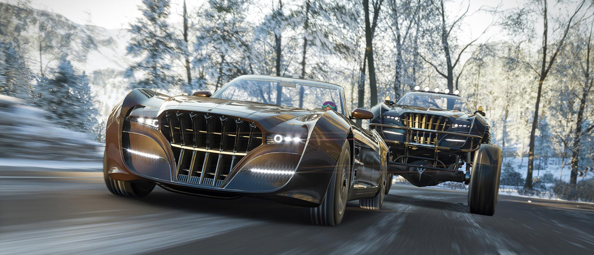 Final Fantasy XV's Regalia is gearing up for a Forza Horizon 4 road trip screenshot