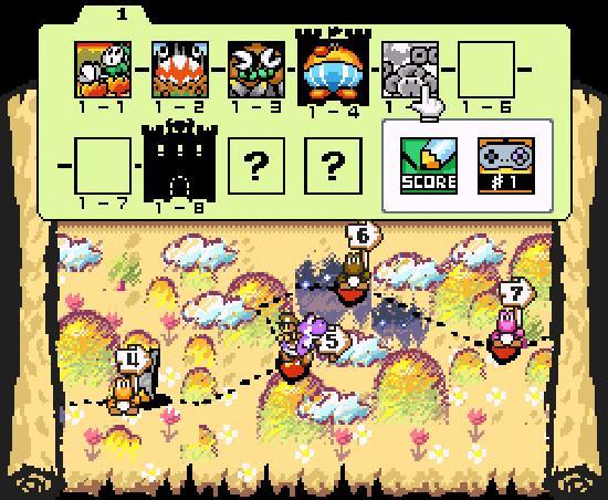 Yoshi's Island stage map