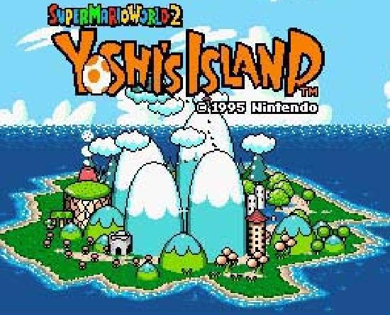 Yoshi's Island title screen