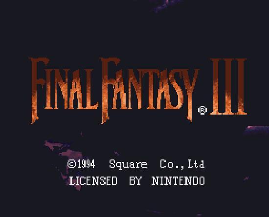 Final Fantasy VI title screen