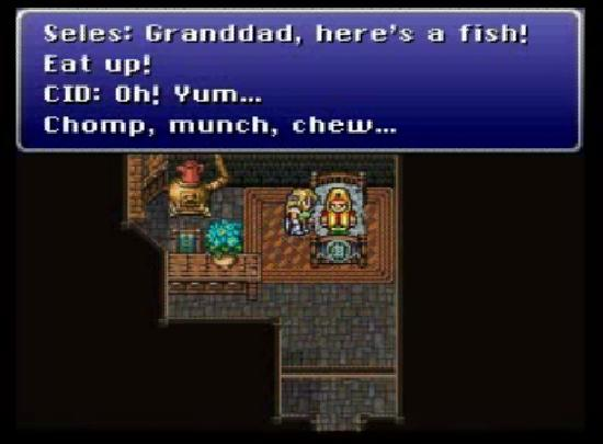 Final Fantasy VI fish for Cid