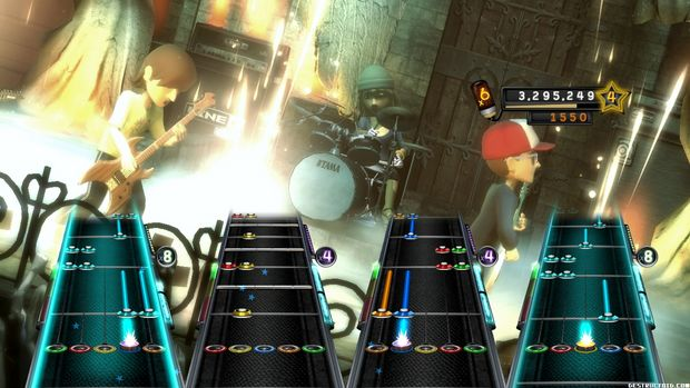 rock out with your avatar out in guitar hero 5 on xbox 360. Black Bedroom Furniture Sets. Home Design Ideas