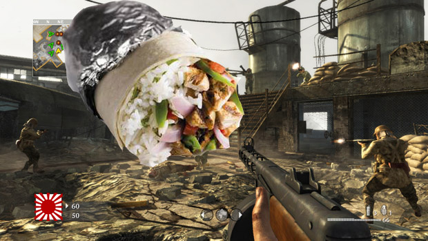 Free Xbox 360 Call of Duty: WaW Map Pack 3, also Chipotle