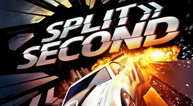 Plane Fighting Games >> Split/Second box art features a car, explosions