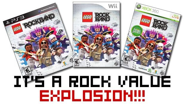 LEGO Rock Band 'value' priced at $49 99 for PS3, Wii, 360