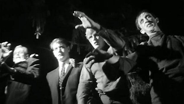 """Slow"" zombies from George A. Romero's ""Night of the Living Dead"""