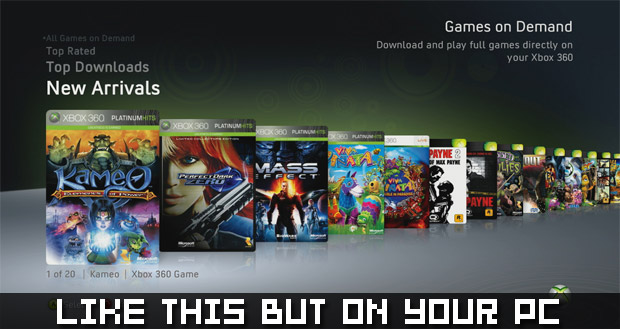 Games for Windows LIVE getting Games on Demand