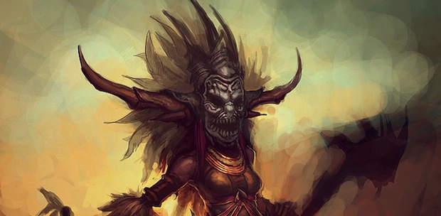 Diablo 3's female Witch Doctor art revealed