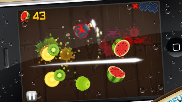 Beat the crap out of fruit with Fruit Ninja on iPhone screenshot