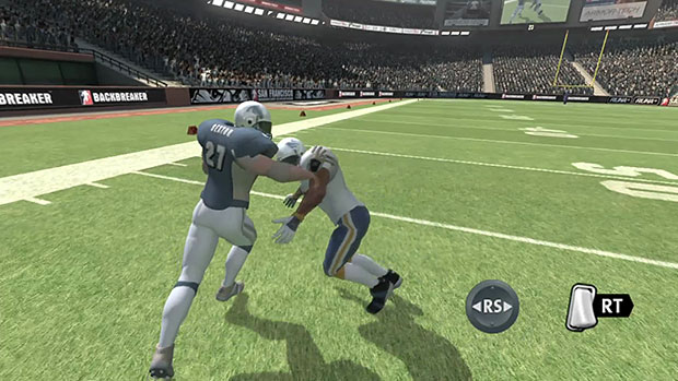Learn about Backbreaker's running game in this tutorial screenshot