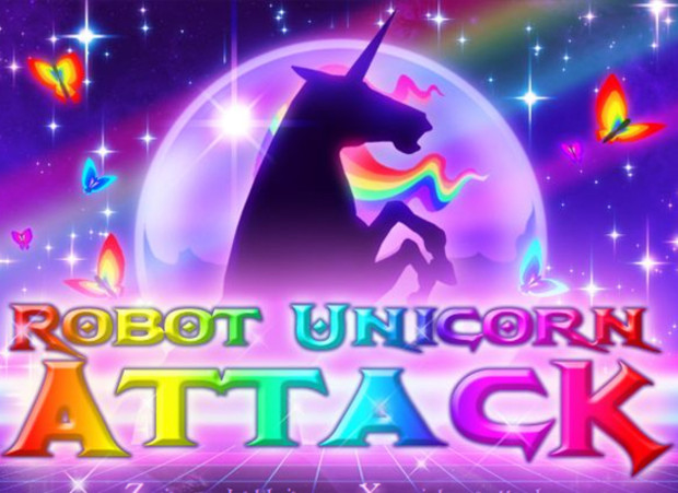 Robot Unicorn Attack galloping onto the iPhone screenshot