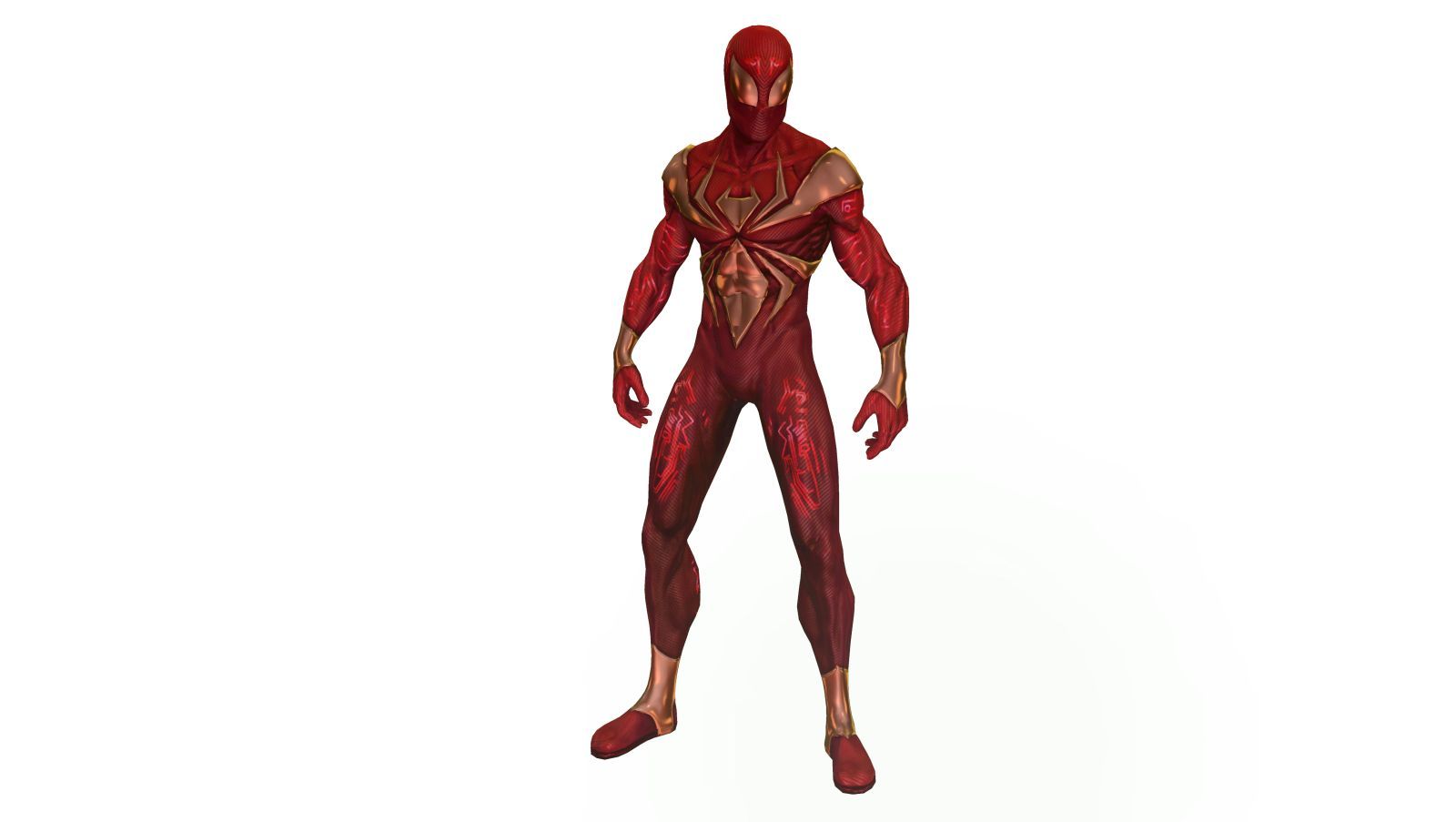wear the iron spiderman costume in shattered dimensions