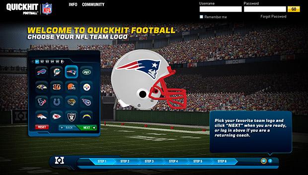 reddot nfl online football game
