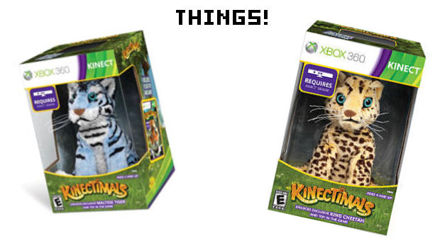 Kinectimals special editions come with stuffed animals