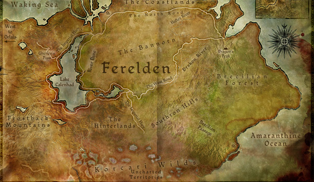 Dragon Age Origins Korcari Wilds Map