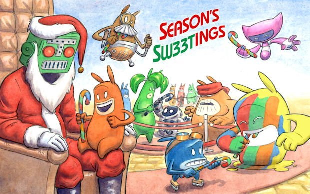 THQ sends an epic de Blob/Destructoid Christmas message photo