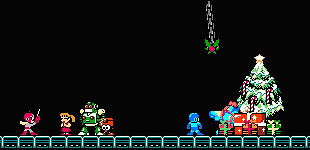 Get equipped with 'A Mega Man Christmas Carol' photo