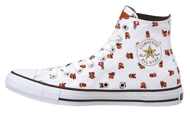 Converse x Super Mario Bros. 25th anniversary shoe photo
