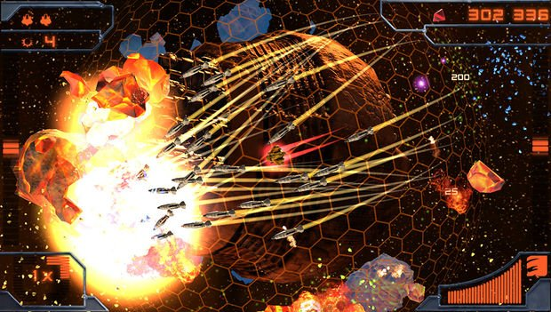 Twin sticks bring Super StarDust Delta to life on NGP screenshot