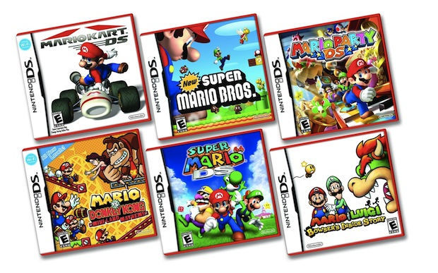 ds lite drops to 99 mario games get red box. Black Bedroom Furniture Sets. Home Design Ideas
