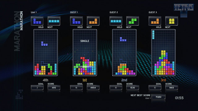 Rest easy, Tetris for PSN is now playable in 3D screenshot