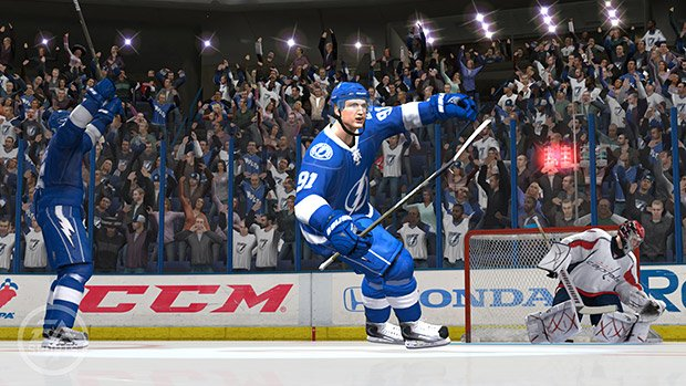 Tampa Bay Lightning's Steven Stamkos is on NHL 12 cover screenshot