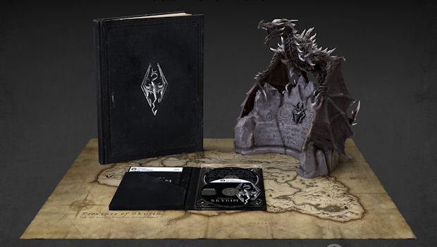 Skyrim collector's edition features F*CKING DRAGON photo
