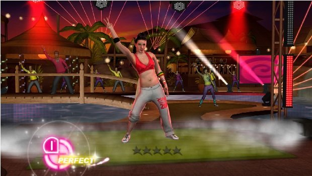 Zumba Fitness 2 screens contain bizarre looking hand screenshot