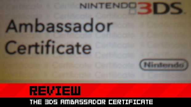Review: The 3DS Ambassador Certificate photo