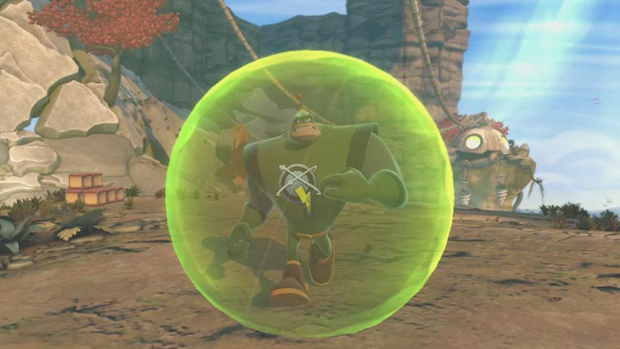 Ratchet & Clank All 4 One has giant balls of power screenshot