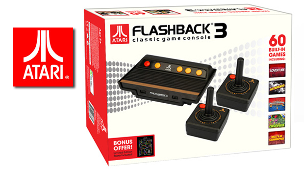 Atari anuncia Flashback 3: console com 60 jogos do Atari 2600 210748-atariflashback3