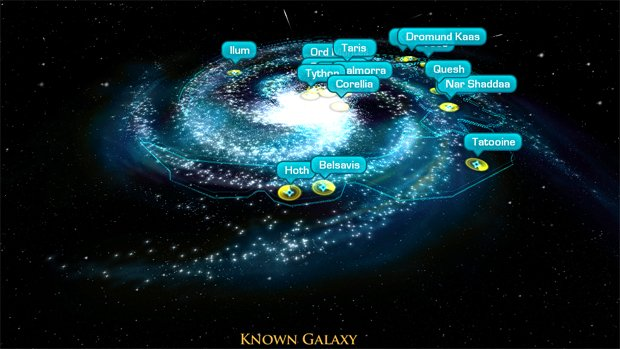 SW The Old Republic website updated with a Galaxy Map