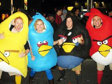 Angry Birds gets ready for Halloween by playing dress-up photo