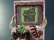 A Dtoider made this Game Boy 'wise fwom its gwave' photo
