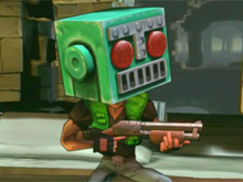 Shoot Many Robots while wearing Mr. Destructoid's helmet! photo