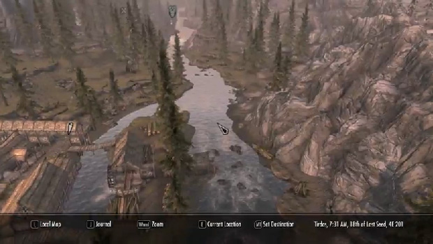 Skyrim mod adds Google Maps-style zoom screenshot