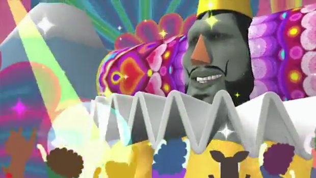 King of all Cosmos struts his stuff for Touch My Katamari screenshot