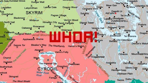 Explore Morrowind and Cyrodiil    in Skyrim