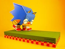 Classy Sonic art at the Sonic Generation show in Philly photo