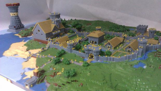 I Said Wow An Entire 3d Printed Minecraft Village