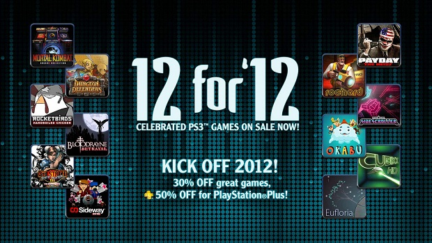 PSN to discount 12 games in '12 for '12' sale event photo