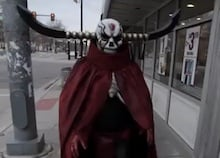 The King of Hell trolls citizens in Michigan photo