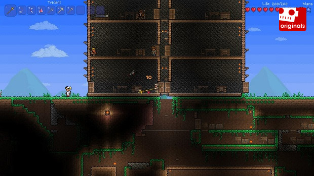 How to survive your first night in Terraria