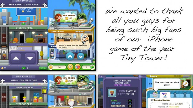 Zynga rips off Tiny Tower, gets called out by devs photo