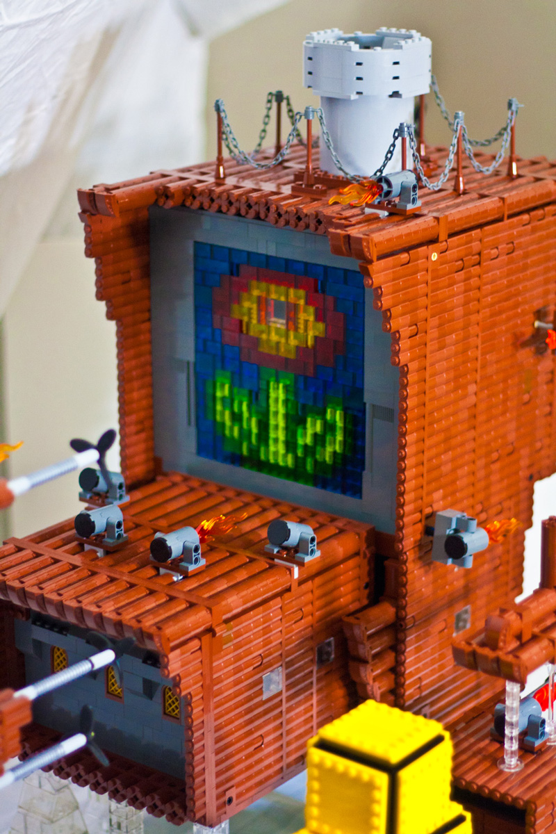 Glorious Mario 3 Airship Constructed Out Of Lego Bricks