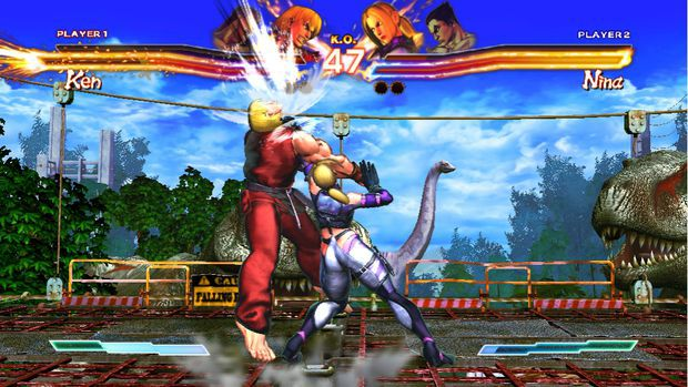 It looks like Nina has a Brachiosaurus growing out of her thigh